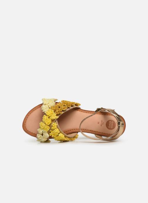 Sandales et nu-pieds Gioseppo 44121 Or et bronze vue gauche
