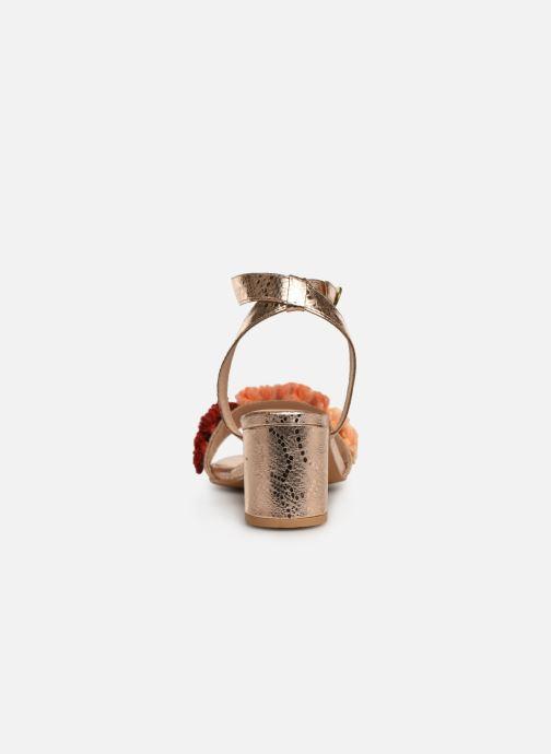 Sandales et nu-pieds Gioseppo 44123 Or et bronze vue droite