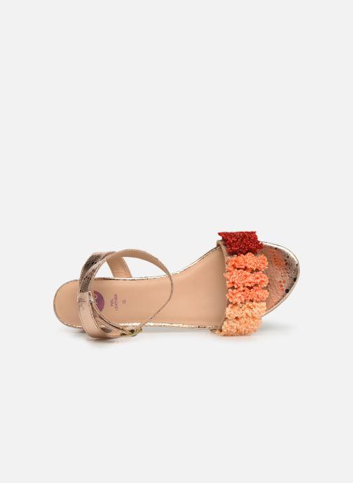 Sandales et nu-pieds Gioseppo 44123 Or et bronze vue gauche