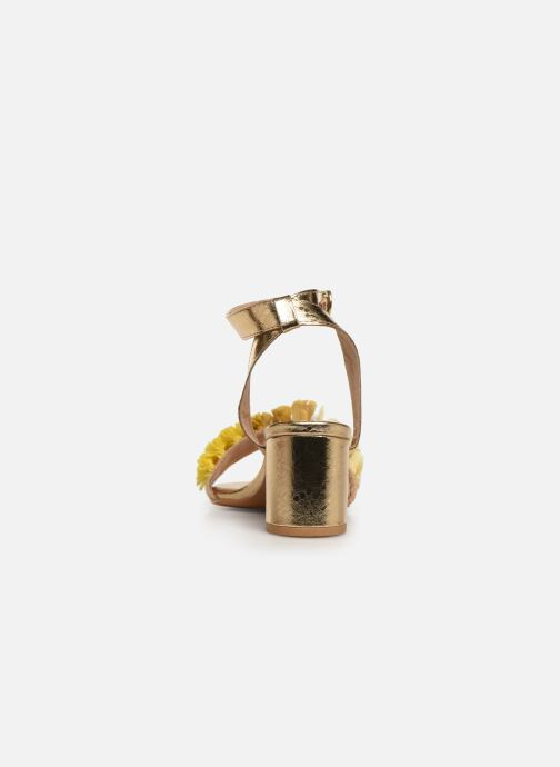 Sandalias Gioseppo 44123 Oro y bronce vista lateral derecha