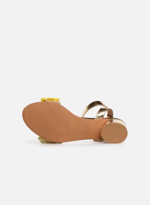 Sandales et nu-pieds Gioseppo 44123 Or et bronze vue haut