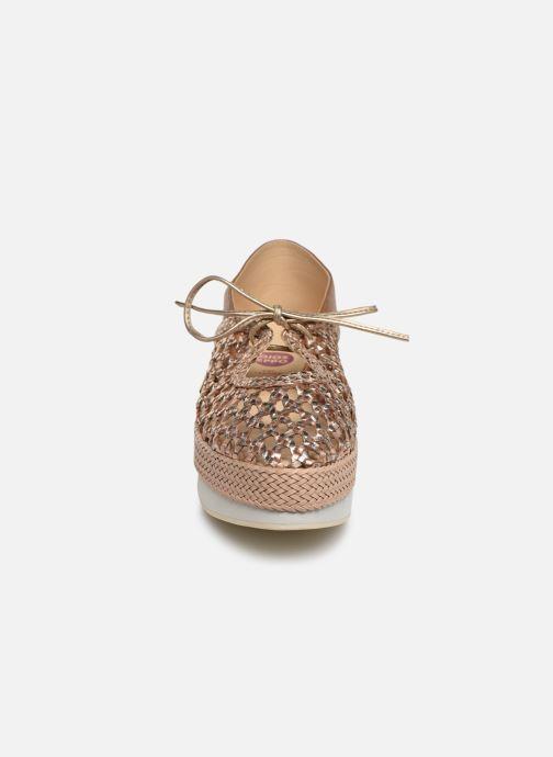 Espadrilles Gioseppo 44151 Or et bronze vue portées chaussures
