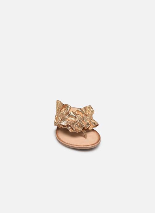 Mules et sabots Gioseppo 44764 Or et bronze vue portées chaussures