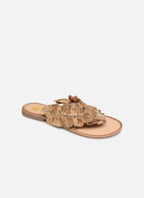 Mules et sabots Gioseppo 44764 Or et bronze vue détail/paire