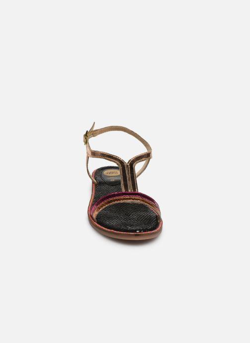 Sandales et nu-pieds Gioseppo 44927 Or et bronze vue portées chaussures