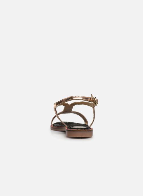 Sandales et nu-pieds Gioseppo 44927 Or et bronze vue droite
