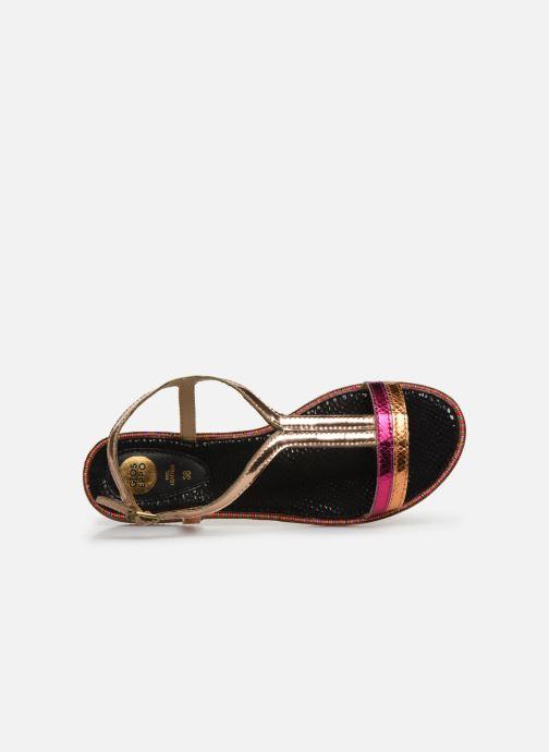 Sandales et nu-pieds Gioseppo 44927 Or et bronze vue gauche