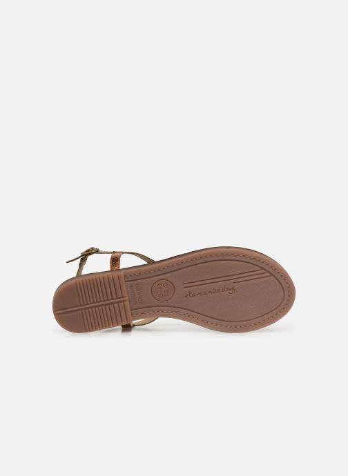 Sandales et nu-pieds Gioseppo 44927 Or et bronze vue haut