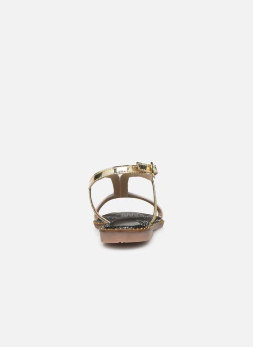 Sandals Gioseppo 44927 Bronze and Gold view from the right