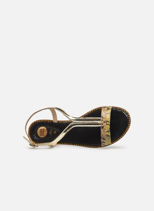 Sandals Gioseppo 44927 Bronze and Gold view from the left