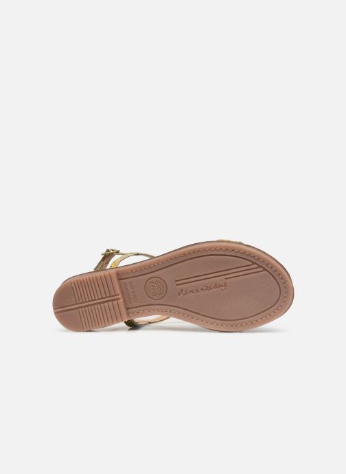 Sandals Gioseppo 44927 Bronze and Gold view from above