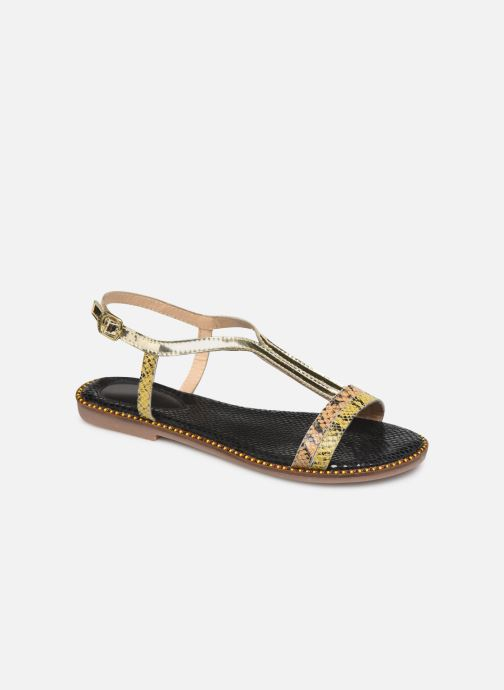 Sandals Gioseppo 44927 Bronze and Gold detailed view/ Pair view