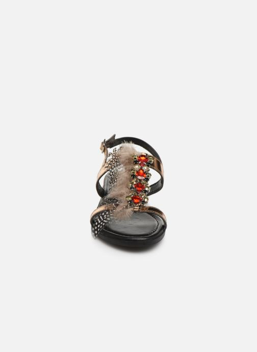Sandali e scarpe aperte Gioseppo 45279 Oro e bronzo modello indossato