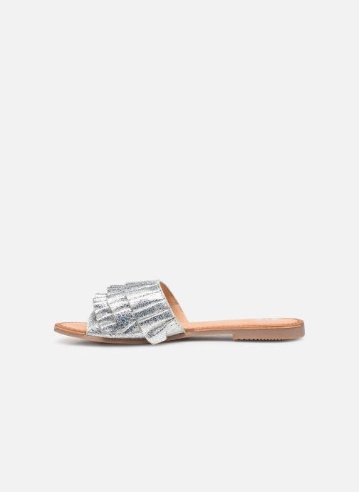 Clogs & Pantoletten Gioseppo 45300 silber ansicht von vorne
