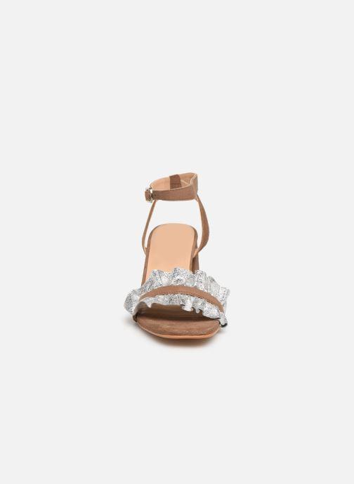 Sandalen Gioseppo 45301 braun schuhe getragen
