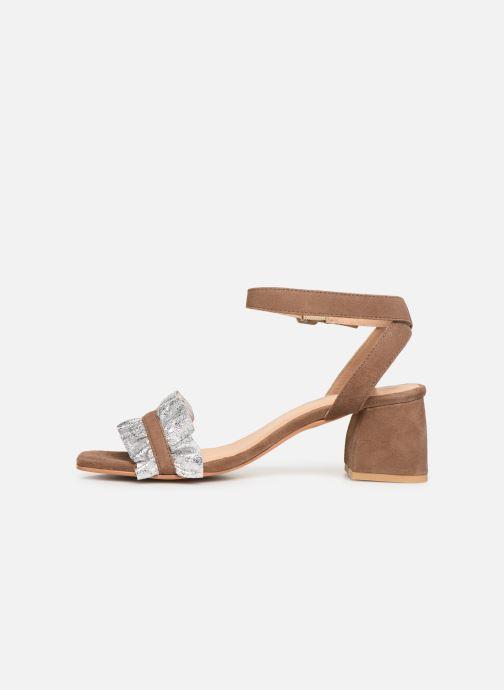 Sandalen Gioseppo 45301 braun ansicht von vorne