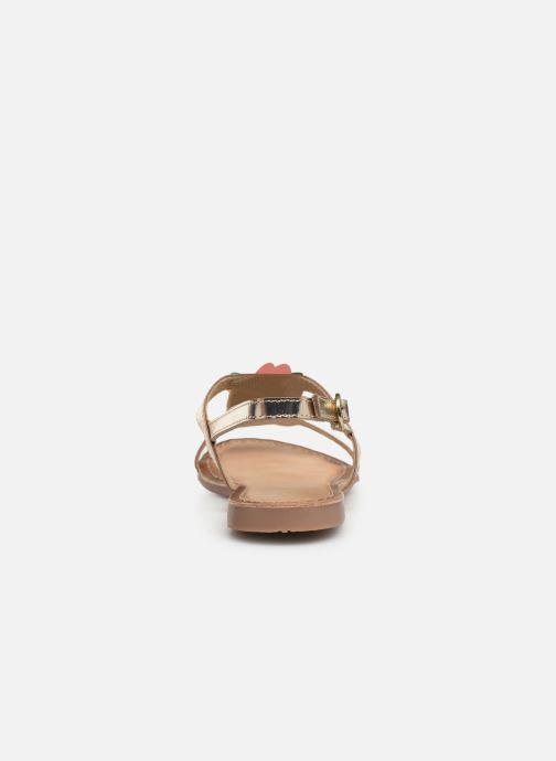 Sandales et nu-pieds Gioseppo 45306 Or et bronze vue droite