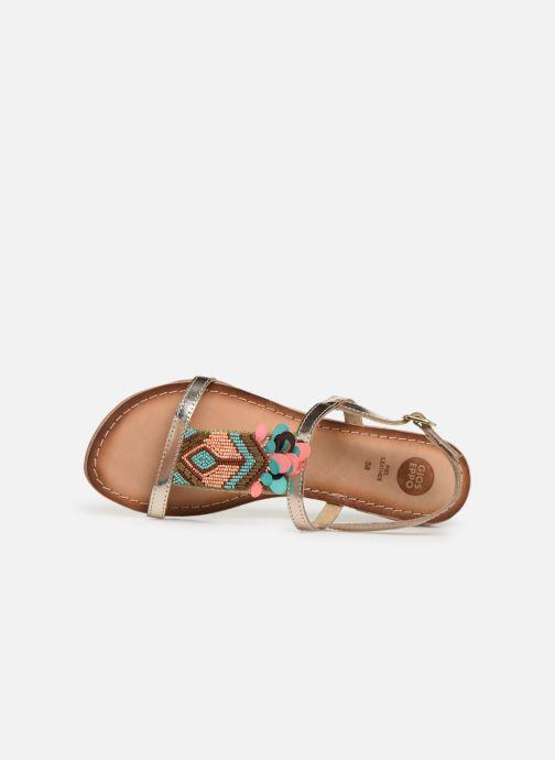 Sandales et nu-pieds Gioseppo 45306 Or et bronze vue gauche