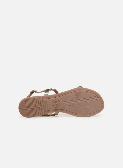Sandales et nu-pieds Gioseppo 45306 Or et bronze vue haut