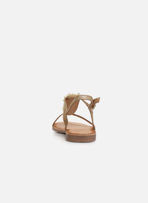 Sandales et nu-pieds Gioseppo 45313 Or et bronze vue droite