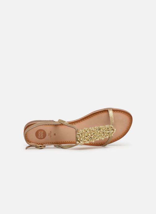 Sandales et nu-pieds Gioseppo 45313 Or et bronze vue gauche