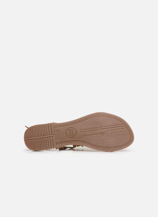 Sandales et nu-pieds Gioseppo 45313 Or et bronze vue haut