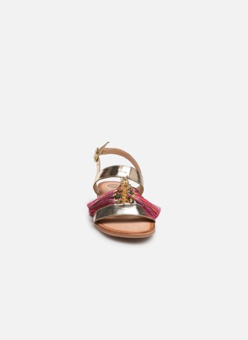 Sandales et nu-pieds Gioseppo 45321 Or et bronze vue portées chaussures