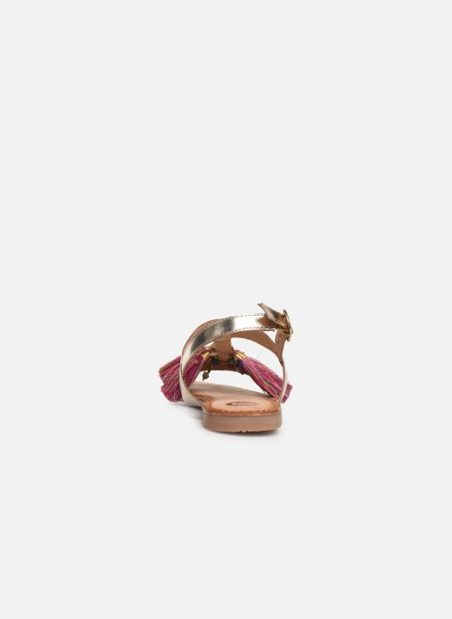 Sandales et nu-pieds Gioseppo 45321 Or et bronze vue droite