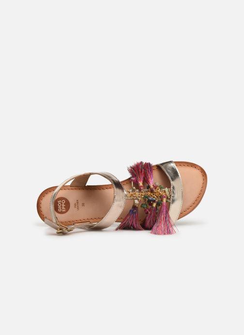 Sandales et nu-pieds Gioseppo 45321 Or et bronze vue gauche