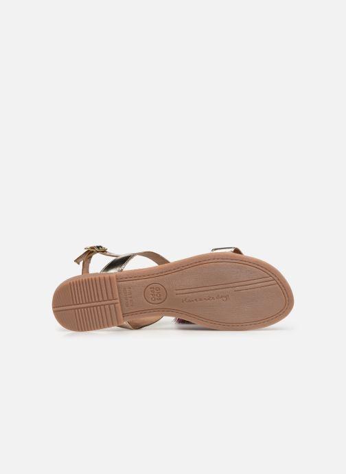Sandales et nu-pieds Gioseppo 45321 Or et bronze vue haut