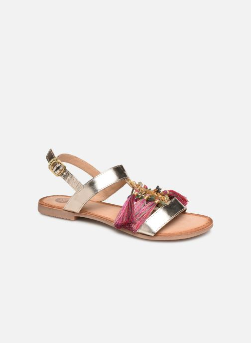 Sandals Gioseppo 45321 Bronze and Gold detailed view/ Pair view