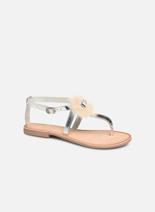 Sandals Gioseppo 45329 Silver detailed view/ Pair view