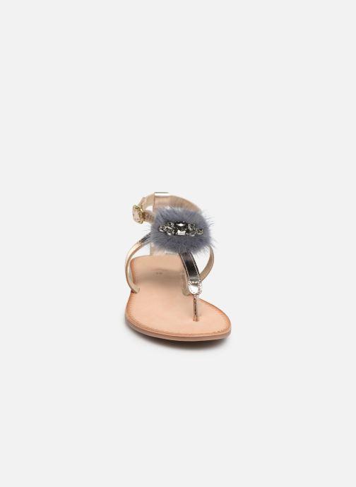 Sandali e scarpe aperte Gioseppo 45329 Oro e bronzo modello indossato