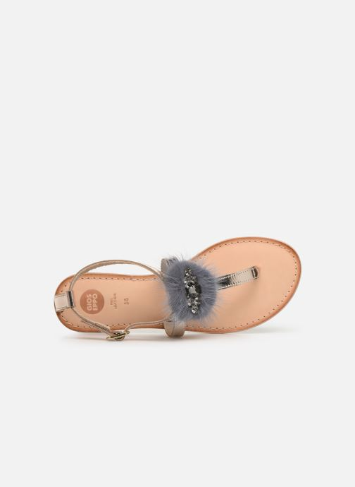 Sandales et nu-pieds Gioseppo 45329 Or et bronze vue gauche