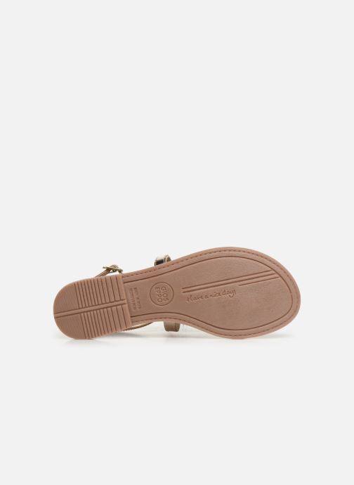 Sandales et nu-pieds Gioseppo 45329 Or et bronze vue haut