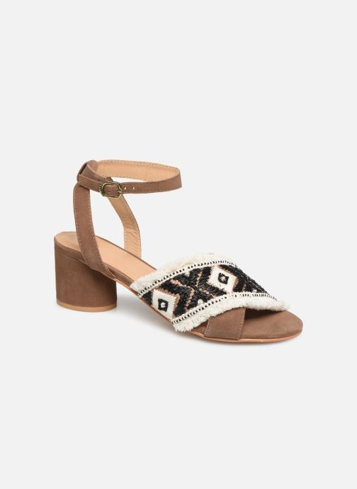 Sandals Gioseppo 45332 Brown detailed view/ Pair view