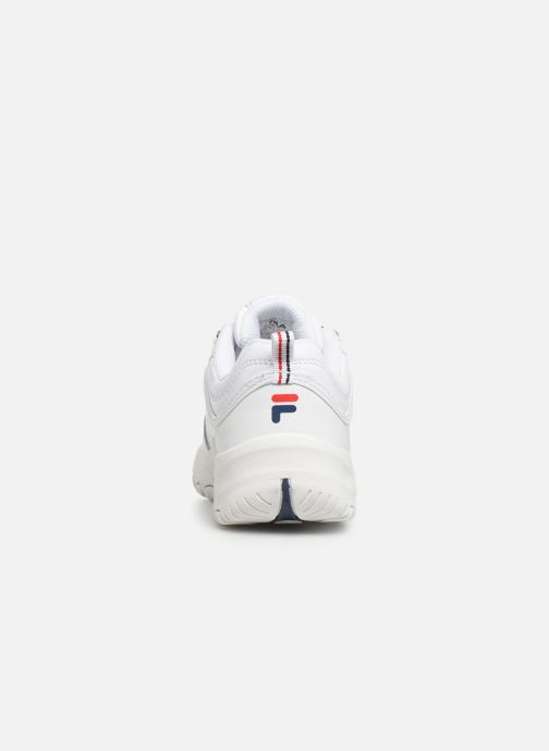 Baskets FILA Strada Low Kids Blanc vue droite