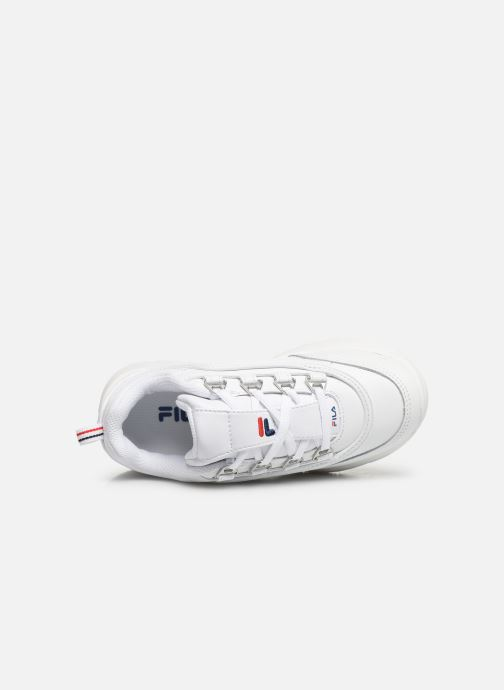 Baskets FILA Strada Low Kids Blanc vue gauche