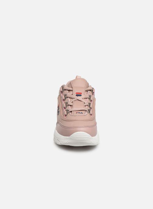 Baskets FILA Strada Low Kids Rose vue portées chaussures