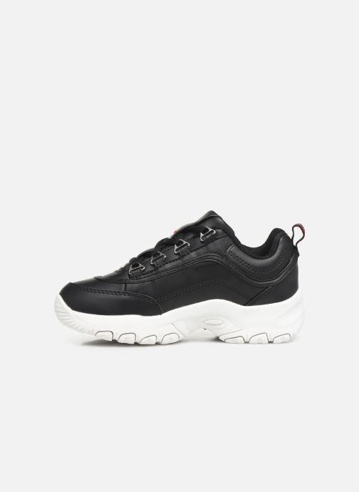 Sneaker FILA Strada Low Kids schwarz ansicht von vorne
