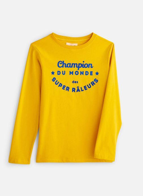 Vêtements Arsène et les Pipelettes T-Shirt Champion du Monde Jaune vue détail/paire