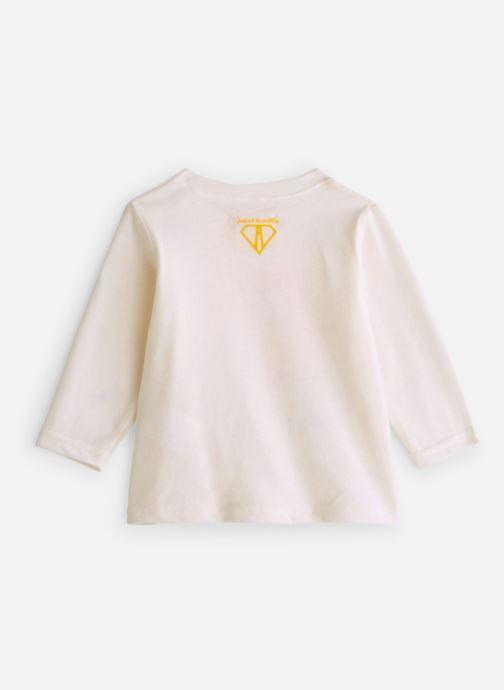 Vêtements Arsène et les Pipelettes T-shirt Acrobates Blanc vue bas / vue portée sac