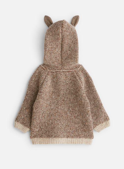 Vêtements Arsène et les Pipelettes Manteau  double maille tricoté oreilles Marron vue bas / vue portée sac