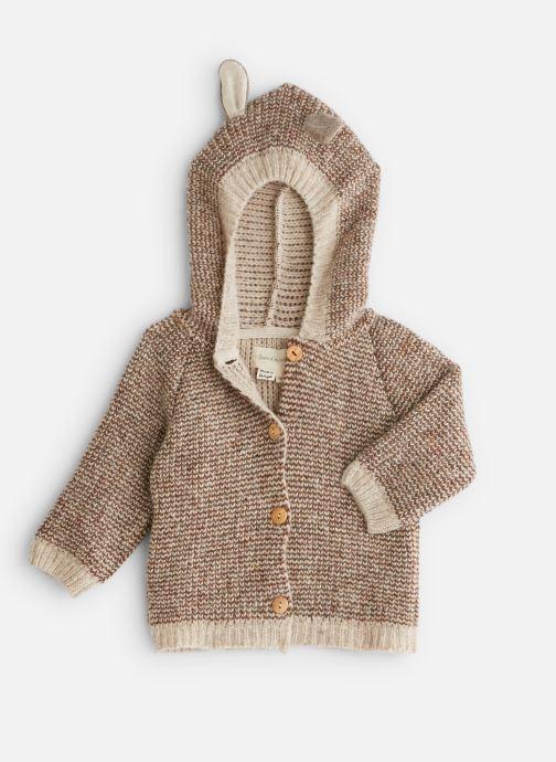 Vêtements Arsène et les Pipelettes Manteau  double maille tricoté oreilles Marron vue détail/paire