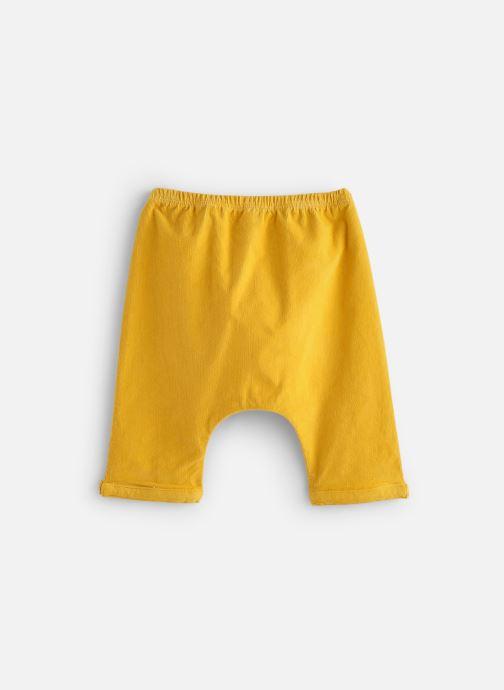 Vêtements Arsène et les Pipelettes Sarouel velours fin stretch Jaune vue bas / vue portée sac