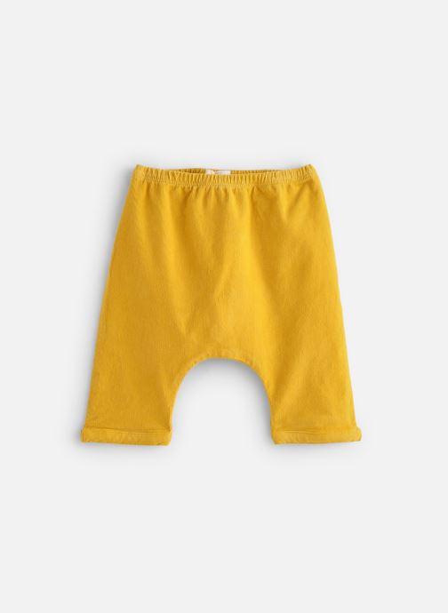 Vêtements Arsène et les Pipelettes Sarouel velours fin stretch Jaune vue détail/paire