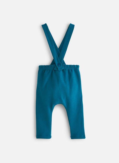 Vêtements Arsène et les Pipelettes Pantalon molleton bicolore bretelles Bleu vue bas / vue portée sac