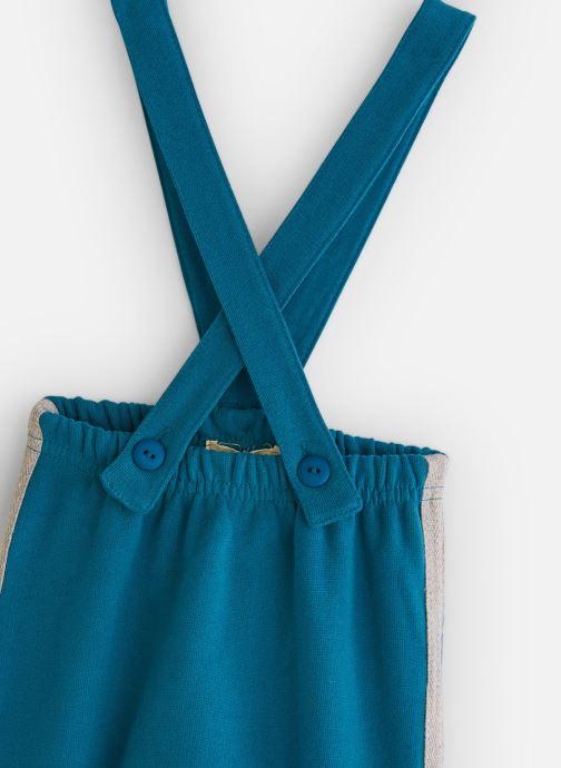 Vêtements Arsène et les Pipelettes Pantalon molleton bicolore bretelles Bleu vue portées chaussures