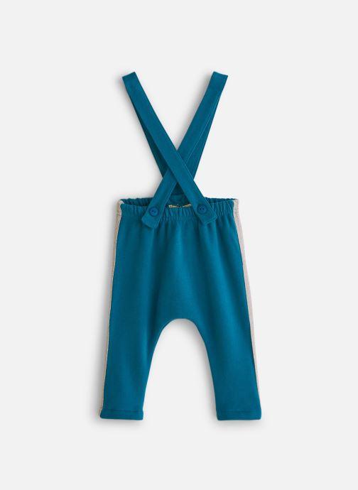 Vêtements Arsène et les Pipelettes Pantalon molleton bicolore bretelles Bleu vue détail/paire