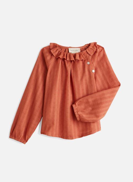 Vêtements Arsène et les Pipelettes Blouse raglan à col pierrot unie Orange vue détail/paire